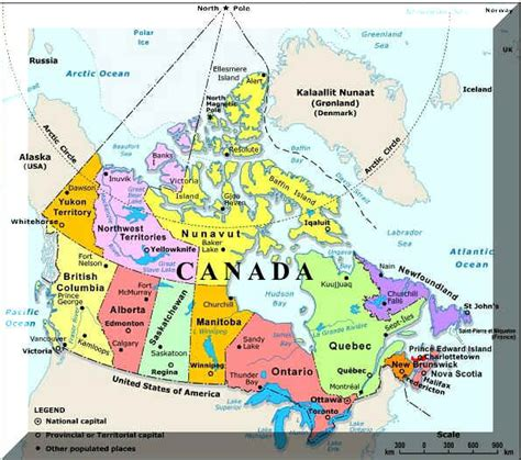 canadian map political canada political map