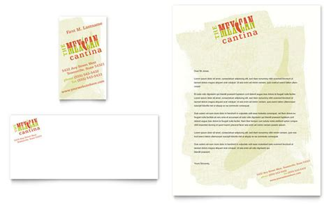 mexican business card template mexican restaurant business card letterhead template design