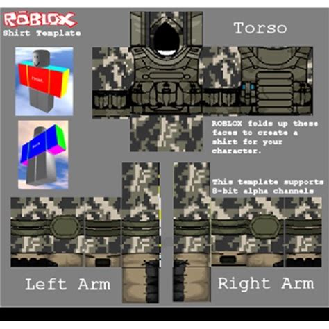 pin roblox army shirt template on pinterest