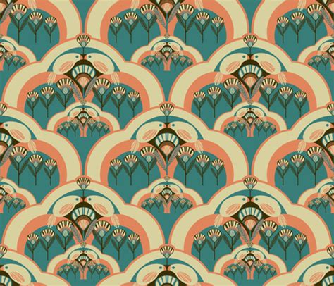 art deco colors art deco 4 color designs spoonflower design challenge