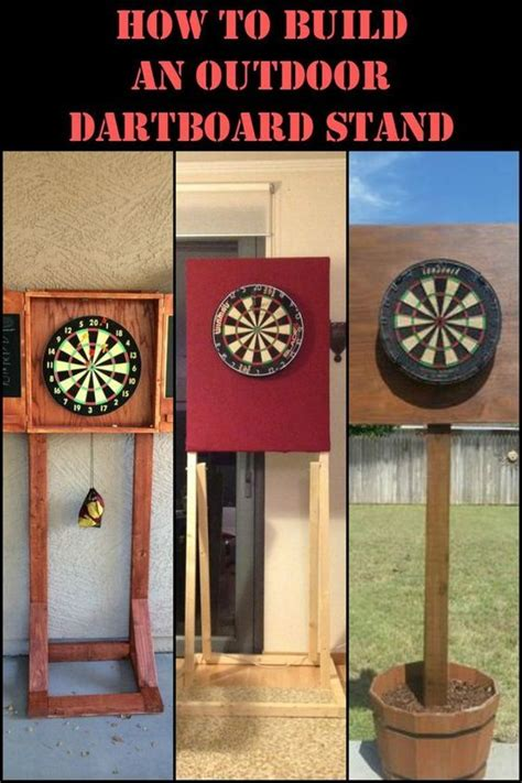 build  diy dartboard stand play outdoors  double