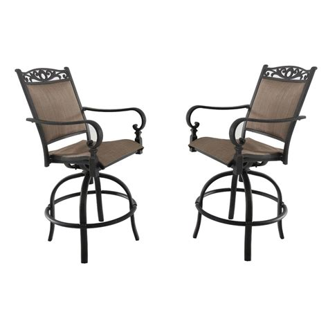 High Patio Chairs - sling high dining chair garden swivel aluminum outdoor