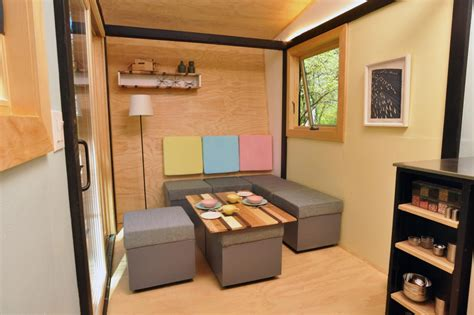 integral seating and storage a small space home with loads of built in charm this old house 6 smart storage ideas from tiny house dwellers hgtv