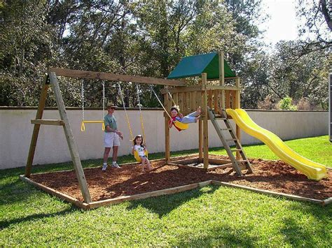 how to install swing set plan ahead for successful swing set installation outdoor