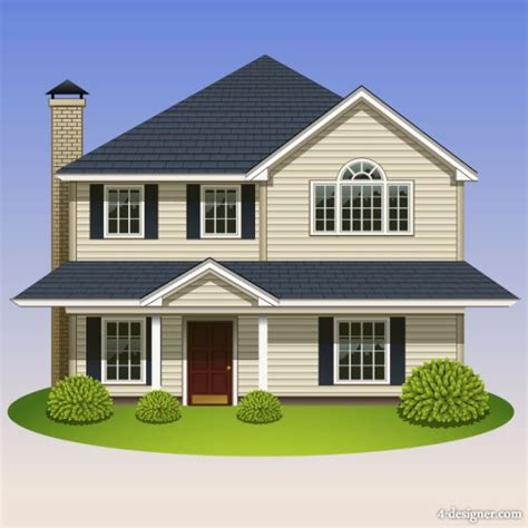 House Design Images Free 4 Designer Housing 05 Vector Material