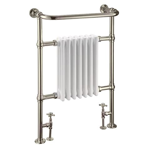 L And B Plumbing by Arcade Lansdowne Radiator And Angled Valves Nickel