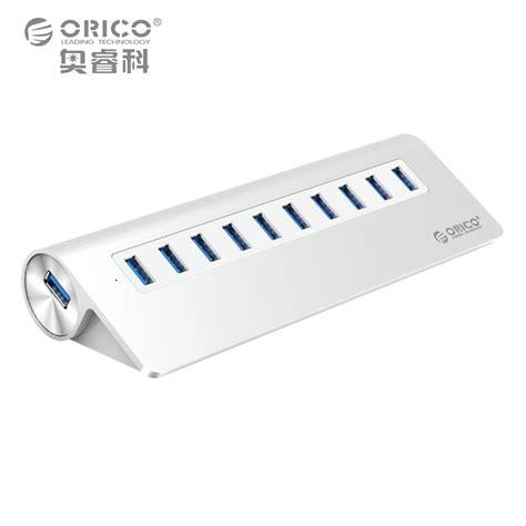 Orico Usb Hub 3 0 Almunium 10 port hub orico aluminum superspeed usb 3 0 hub with 1m usb cable vl812 chipsets 36w power