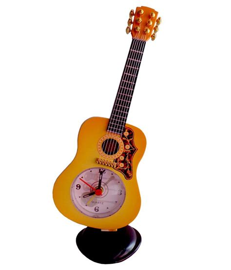 ut handicrafts yellow plastic guitar alarm clock buy ut handicrafts yellow plastic guitar alarm