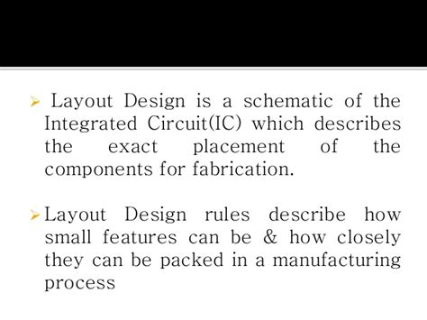design rules and layout in vlsi layout stick diagram design rules