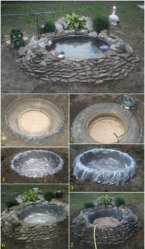 decorative pond   tires home design