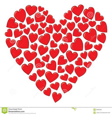 clipart cuori un cuore fatto dei cuori illustrazione vettoriale