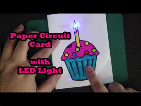 Led Card Template by Cupcake Paper Circuit Card With Led Light