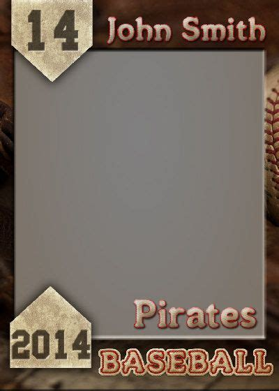 baseball trading card template for photoshop baseball trading card photoshop template by gobluskydesign