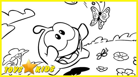 om nom the coloring book flower meadow coloring pages