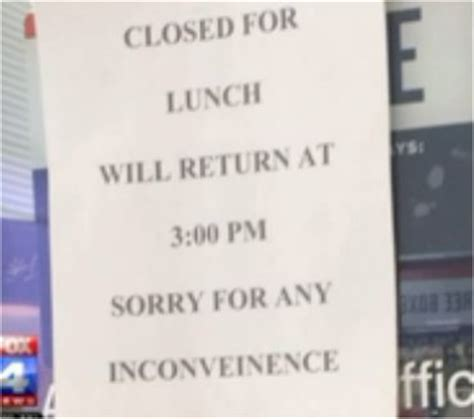 office hours ____ am ____ pm closed for lunch sign nhe 33847
