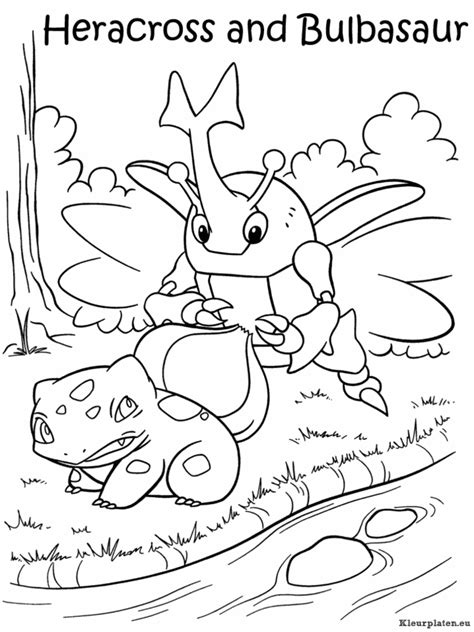 pokemon coloring pages heracross pokemon kleurplaten kleurplaten eu