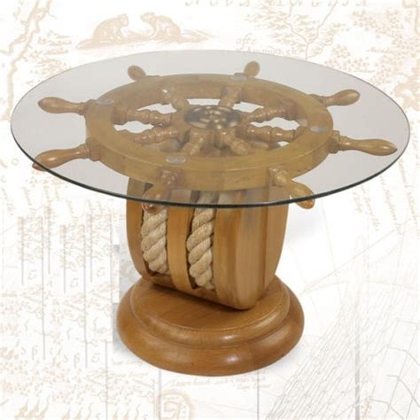 nautical end table ships wheel end table nautical furniture shipwheel boat