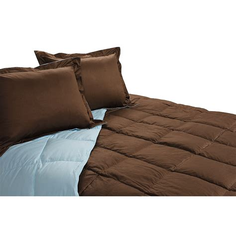 blue ridge home royal velvet reversible down comforter and