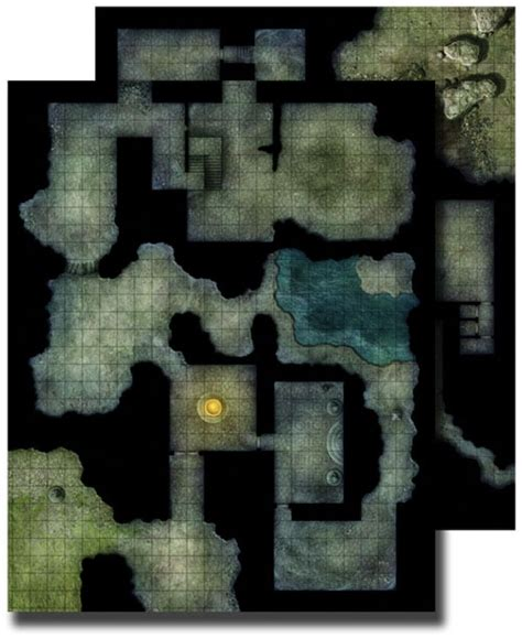 D D Mat by Paizo Gamemastery Flip Mat Haunted Dungeon