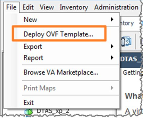 deploy ovf template creating and deploying an ova or ovf file
