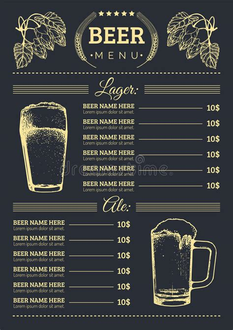 menu card design template vector free menu design template vector pub restaurant card with