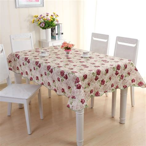 Kitchen Table Cover Waterproof Pvc Vinyl Wipe Clean Tablecloth Dining Kitchen Table Cover Protector Ebay