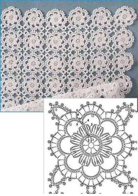piastrelle crochet schemi piastrella fiore schema uncinetto magiedifilo it punto