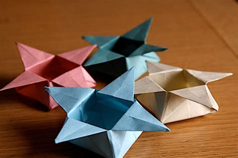 Simple Origami Basket - baskets boxes and bowls origami