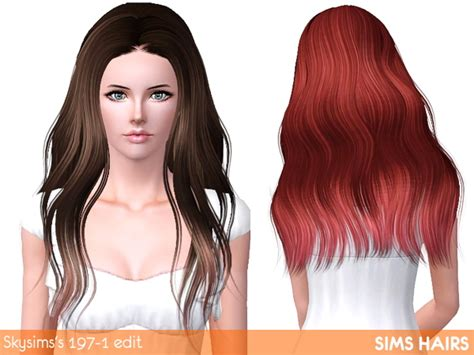 fly sims 121 af hairstyle retextured by sims hairs for sims 3 skysims s af 197 hairstyle highlight retextured by sims hairs