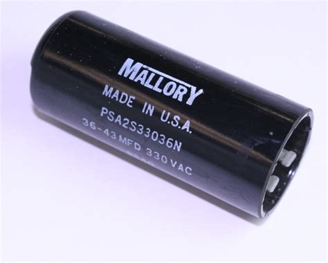 psa2s33036n mallory capacitor 36uf 330v application motor