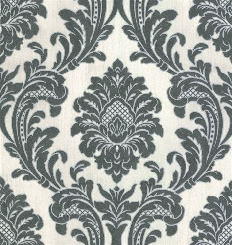 black damask wallpaper home decor fine decor milano 7 damask vinyl wallpaper m95584 black