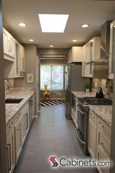 beautiful galley kitchen featuring  deerfield