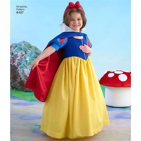 pattern for snow white dress girls snow white costume simplicity sewing pattern 8487