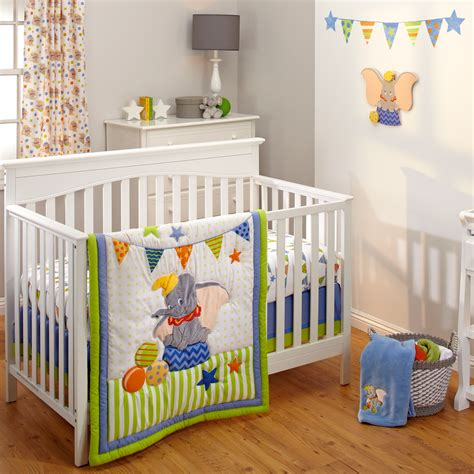 dumbo 3 piece crib bedding set disney baby