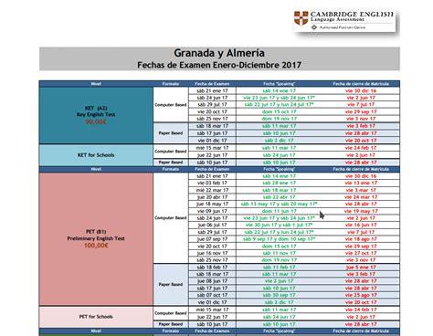 Cambridge Schools Calendar Iag School 187 Calendario Examenes Cambridge