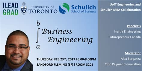 Schulich Mba Events by Engineering Business