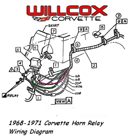 1968 1971 corvette horn relay wiring diagram willcox