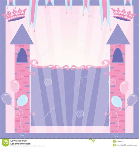 castle invitation template princess birthday invitation castle stock vector