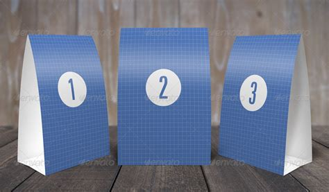 Table Tents Mock Up Template By Grapulo Graphicriver 5x7 Table Tent Template