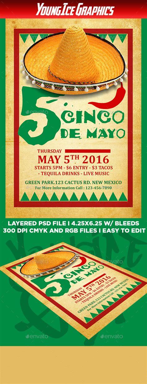 Cinco De Mayo Flyer Template By Youngicegfx Graphicriver Cinco De Mayo Template