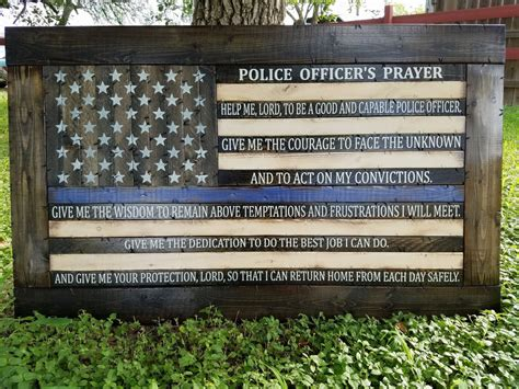 Officers Prayer by Officer S Prayer Thin Blue Line Flag