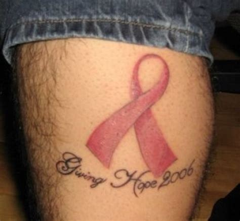 7 Ribbon Tattoos On Thigh Cancer Memorial Tattoos For 2