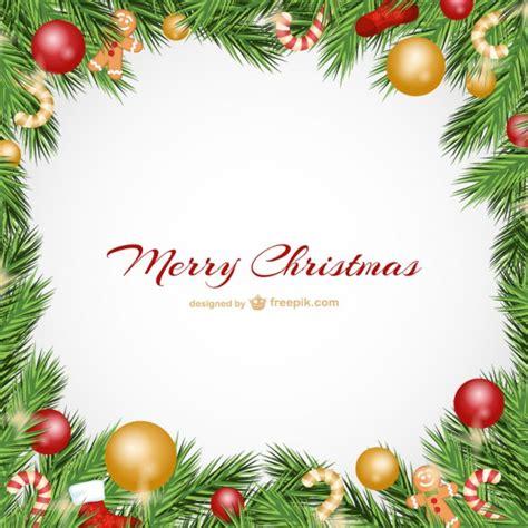 cornici natalizie gratis cartolina di natale con palline scaricare vettori gratis