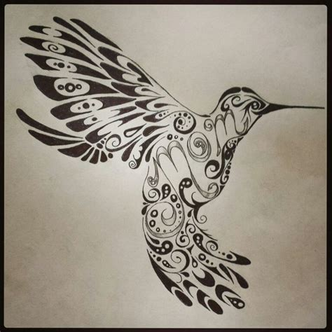 tribal mom tattoo hummingbird tribal