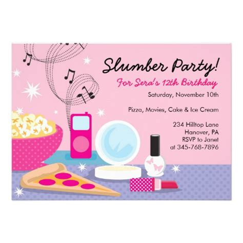 free printable sleepover invitation templates slumber invitations templates free cimvitation