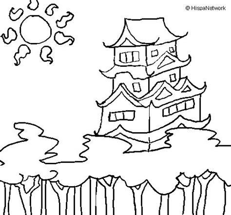 imagenes japonesas para pintar dibujo de casa japonesa para colorear dibujos net