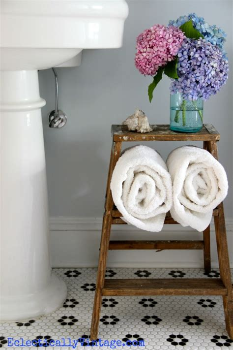 vintage bathroom storage ideas bathroom storage ideas love this old ladder