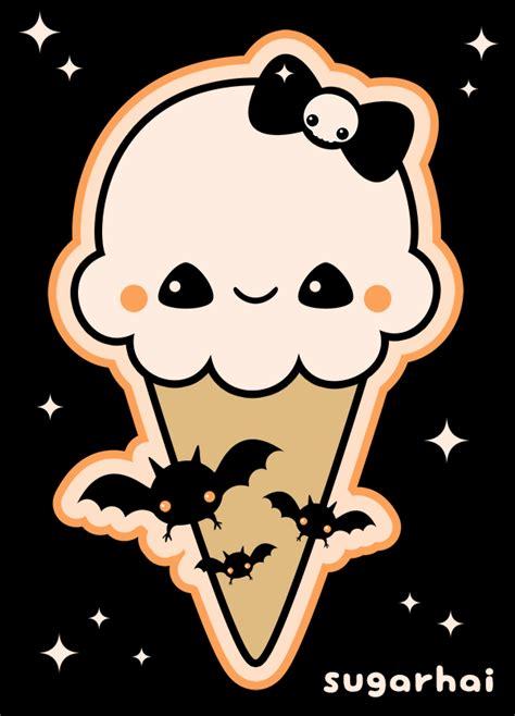 imagenes halloween kawaii a cute animated gif of a yummy halloween ice cream cone