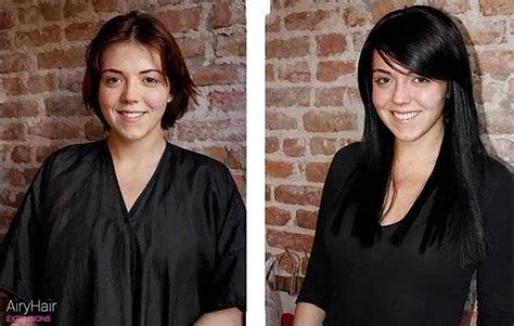 extensions short hair before after hair extensions before after images medium and short hair