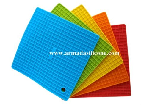 Pot Mat by Square Shape Silicone Pot Mat Silicone Pad Silicone